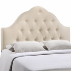 Modway Sovereign King Tufted Upholstered Fabric Headboard in Ivory MY-MOD-5166-IVO
