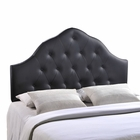 Modway Sovereign Queen Tufted Faux Leather Headboard in Black MY-MOD-5163-BLK