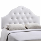 Modway Sovereign Queen Tufted Faux Leather Headboard in White MY-MOD-5163-WHI