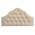 Modway Sovereign Queen Tufted Upholstered Fabric Headboard in Beige MY-MOD-5162-BEI