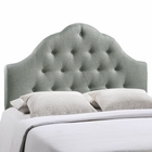 Modway Sovereign Queen Tufted Upholstered Fabric Headboard in Gray MY-MOD-5162-GRY