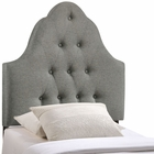 Modway Sovereign Twin Tufted Upholstered Fabric Headboard in Gray MY-MOD-5168-GRY
