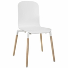 Modway Stack Dining Wood Side Chair in White MY-EEI-1054-WHI