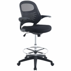 Modway Stealth Mesh Drafting Chair in Black MY-EEI-2290-BLK