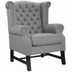 Modway Steer Upholstered Fabric Armchair in Light Gray MY-EEI-2150-LGR