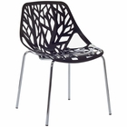 Modway Stencil Dining Side Chair in Black MY-EEI-651-BLK