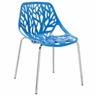 Modway Stencil Dining Side Chair in Blue MY-EEI-651-BLU