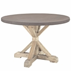 Modway Stitch Round Wood Top Dining Table in Brown MY-EEI-1207-BRN-SET