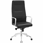 Modway Stride Highback Faux Leather Office Chair in Black MY-EEI-2120-BLK