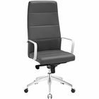 Modway Stride Highback Faux Leather Office Chair in Gray MY-EEI-2120-GRY