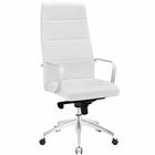 Modway Stride Highback Faux Leather Office Chair in White MY-EEI-2120-WHI