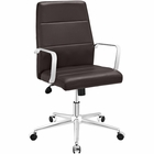 Modway Stride Mid Back Faux Leather Office Chair in Brown MY-EEI-2121-BRN