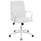 Modway Stride Mid Back Faux Leather Office Chair in White MY-EEI-2121-WHI