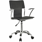 Modway Studio Faux Leather Office Chair in Black MY-EEI-198-BLK