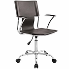 Modway Studio Faux Leather Office Chair in Brown MY-EEI-198-BRN