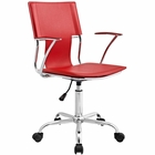 Modway Studio Faux Leather Office Chair in Red MY-EEI-198-RED