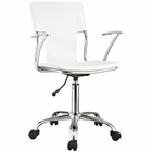 Modway Studio Faux Leather Office Chair in White MY-EEI-198-WHI