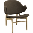 Modway Suffuse Upholstered Fabric Lounge Chair in Natural Brown MY-EEI-1449-NAT-BRN