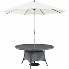 """Modway Summon 59"""" Round Outdoor Patio Wicker Rattan Dining Table in Gray MY-EEI-1940-GRY"""