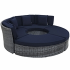 Modway Summon Circular Outdoor Patio Sunbrella® Daybed in Canvas Navy MY-EEI-1995-GRY-NAV-SET