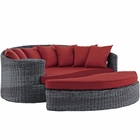 Modway Summon Outdoor Patio Wicker Rattan Sunbrella® Daybed in Canvas Red MY-EEI-1993-GRY-RED
