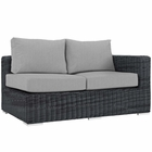 Modway Summon Outdoor Patio Wicker Rattan Sunbrella® Right Arm Loveseat in Canvas Gray MY-EEI-1871-GRY-GRY