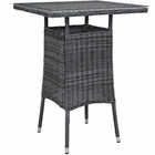 Modway Summon Small Outdoor Patio Wicker Rattan Bar Table in Gray MY-EEI-1974-GRY