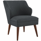 Modway Swell Upholstered Fabric Armchair in Gray MY-EEI-2148-GRY
