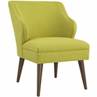 Modway Swell Upholstered Fabric Armchair in Wheatgrass MY-EEI-2148-WHE