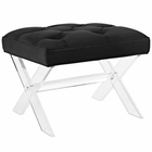 Modway Swift Acrylic Bench in Black MY-EEI-2323-BLK