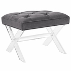 Modway Swift Acrylic Bench in Gray MY-EEI-2323-GRY