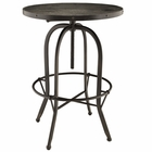 Modway Sylvan Pine Wood Top Bar Table in Black MY-EEI-1200-BLK
