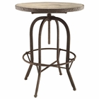 Modway Sylvan Pine Wood Top Bar Table in Brown MY-EEI-1200-BRN
