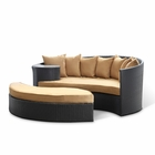 Modway Taiji Outdoor Patio Wicker Rattan Daybed in Espresso Mocha MY-EEI-645-EXP-MOC