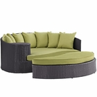 Modway Taiji Outdoor Patio Wicker Rattan Daybed in Espresso Peridot MY-EEI-645-EXP-PER