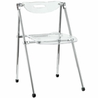 Modway Telescope Acrylic Folding Chair in Clear MY-EEI-148-CLR
