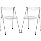 Modway Telescope Dining Chairs Acrylic Set of 2 in Clear MY-EEI-923-CLR
