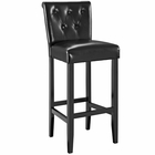 Modway Tender Faux Leather Bar Stool in Black MY-EEI-1415-BLK