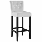 Modway Tender Faux Leather Bar Stool in White MY-EEI-1415-WHI