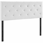 Modway Terisa King Faux Leather Headboard in White MY-MOD-5371-WHI