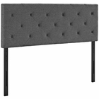 Modway Terisa Queen Upholstered Fabric Headboard in Gray MY-MOD-5370-GRY