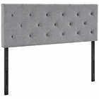 Modway Terisa Queen Upholstered Fabric Headboard in Light Gray MY-MOD-5370-LGR