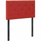 Modway Terisa Twin Upholstered Fabric Headboard in Atomic Red MY-MOD-5366-ATO