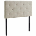 Modway Terisa Twin Upholstered Fabric Headboard in Beige MY-MOD-5366-BEI
