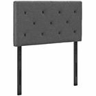 Modway Terisa Twin Upholstered Fabric Headboard in Gray MY-MOD-5366-GRY