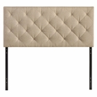 Modway Theodore Queen Upholstered Fabric Headboard in Beige MY-MOD-5040-BEI