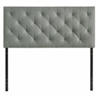 Modway Theodore Queen Upholstered Fabric Headboard in Gray MY-MOD-5040-GRY