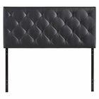 Modway Theodore Queen Upholstered Vinyl Headboard in Black MY-MOD-5129-BLK