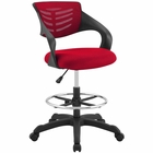 Modway Thrive Mesh Drafting Chair in Red MY-EEI-3040-RED