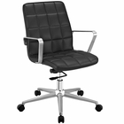 Modway Tile Faux Leather Office Chair in Black MY-EEI-2127-BLK